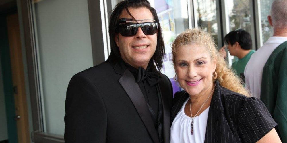 South Beach Jazz Festival founder David New with Allison Slakman