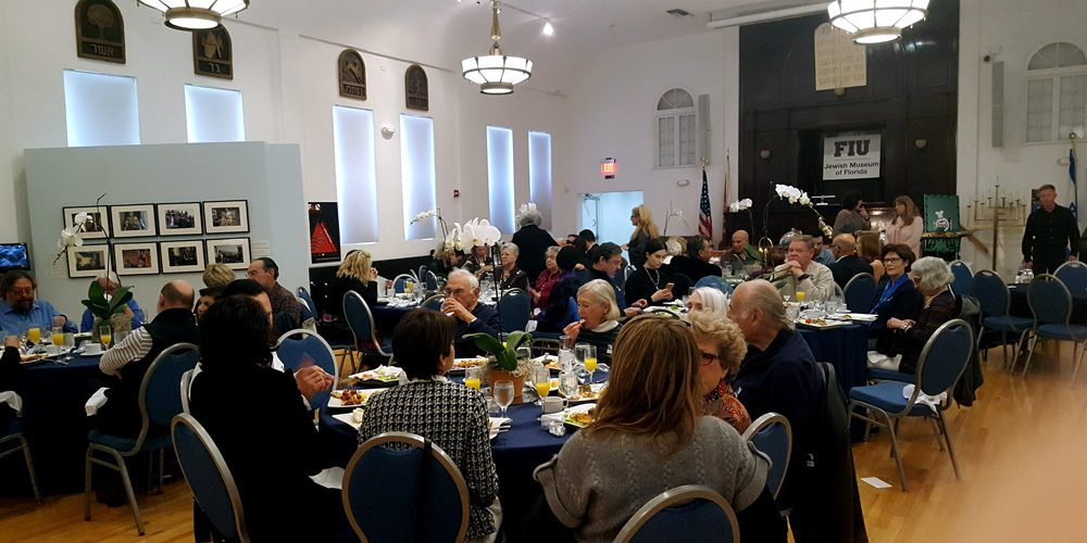 Photo of attendees to the Jazz Brunch with the Tal Cohen Jazz Ensemble