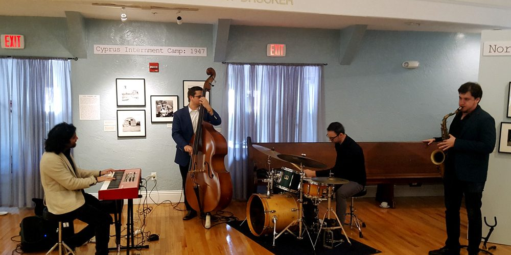 Photo of the Tal Cohen Jazz Ensemble performing at the Jewish Museum of Florida during the Jazz-Brunch